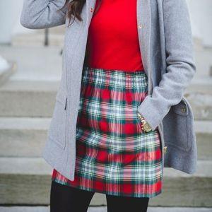 Holiday Plaid Sidewalk Skirt